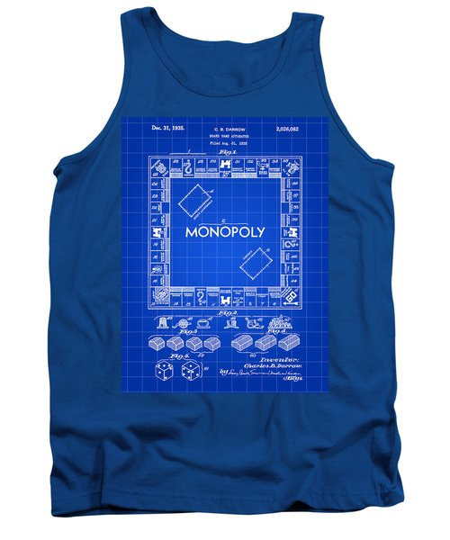 Monopoly Patent 1935 - Blue Tank Top by Stephen Younts