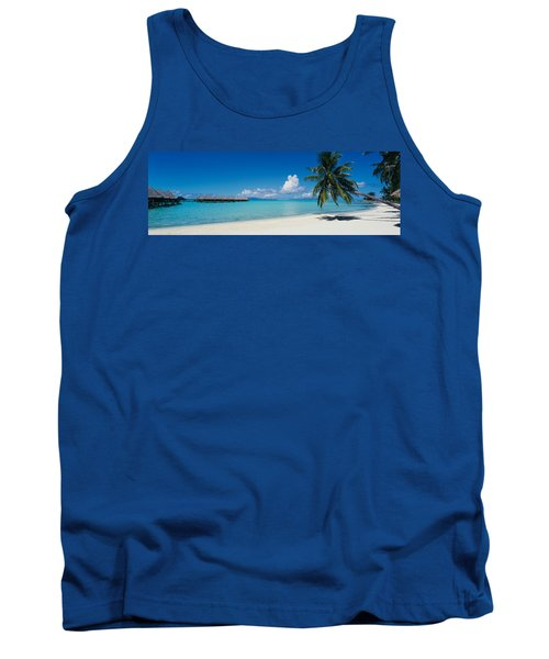 Palm Tree On The Beach, Moana Beach Tank Top