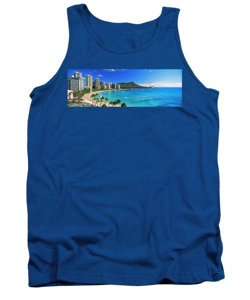 Palm Trees On The Beach, Diamond Head Tank Top