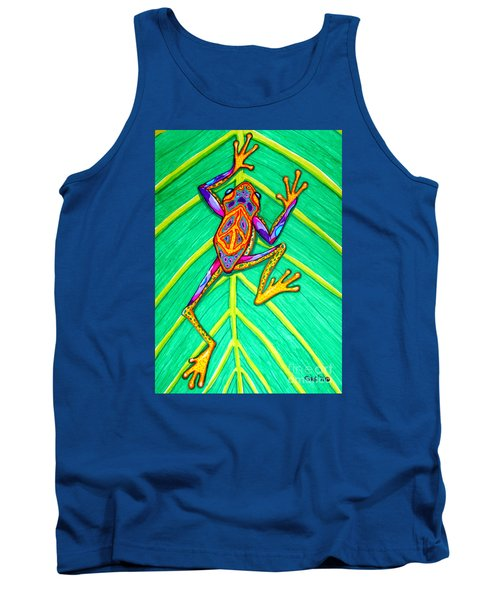 Peace Frog Tank Top by Nick Gustafson