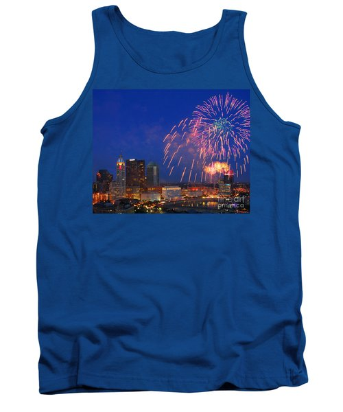 Red White And Boom Photo Tank Top