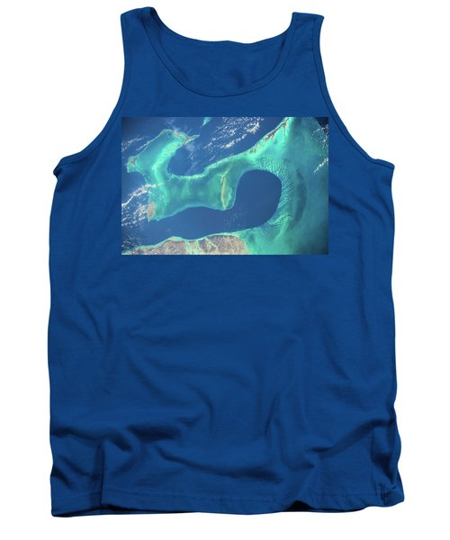 Satellite View Of Islands Of Bahamas Tank Top