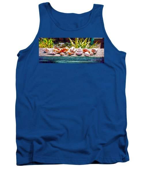Tank Top featuring the photograph Shell Collection by Annie Zeno