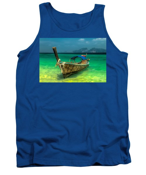 Thai Longboat Tank Top by Adrian Evans