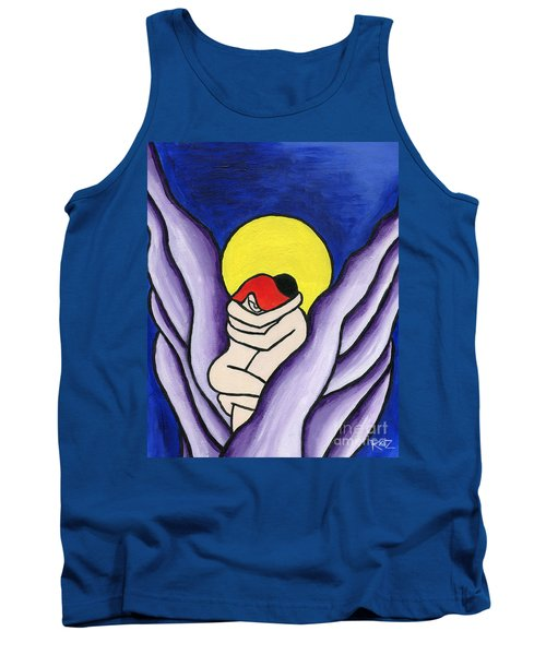 Tank Top featuring the painting The Lovers by Roz Abellera Art