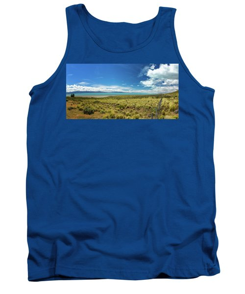 View Of Lake With Mountains Tank Top