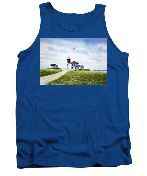 Tank Top featuring the painting Watch Hill Ri Lighthouse by Joan Hartenstein