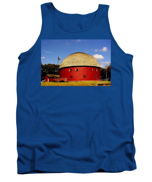 Tank Top featuring the photograph 100 Year Old Round Red Barn  by Janette Boyd