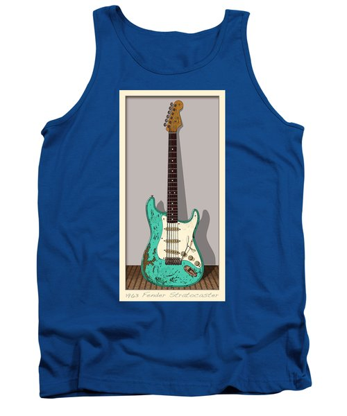 Tank Top featuring the digital art 1963 by WB Johnston