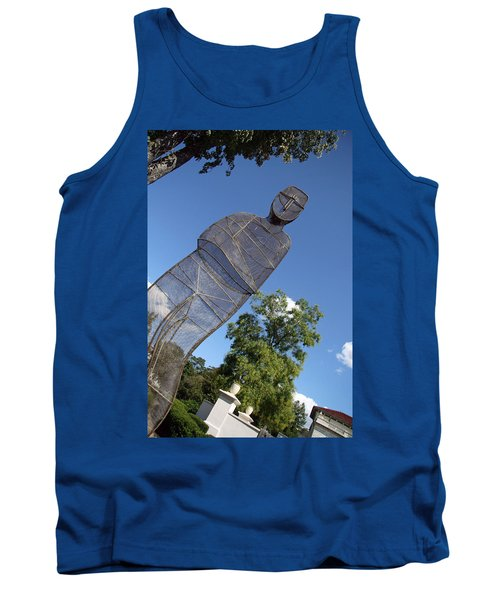 Tank Top featuring the photograph Minujin's A Man Of Mesh by Cora Wandel