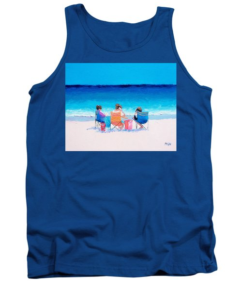 Beach Painting 'girl Friends' By Jan Matson Tank Top