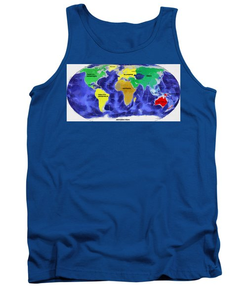 Map Of The World Tank Top by Georgi Dimitrov