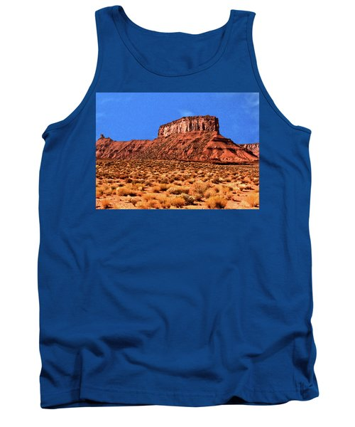 Tank Top featuring the painting National Navajo Tribal Park by Bob and Nadine Johnston