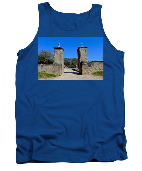 Old City Gates Of St. Augustine Tank Top
