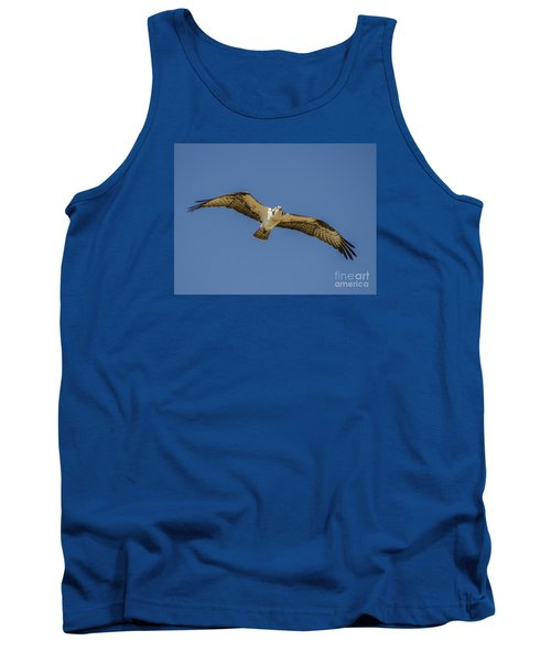 Tank Top featuring the photograph Osprey In Flight Spreading His Wings by Dale Powell