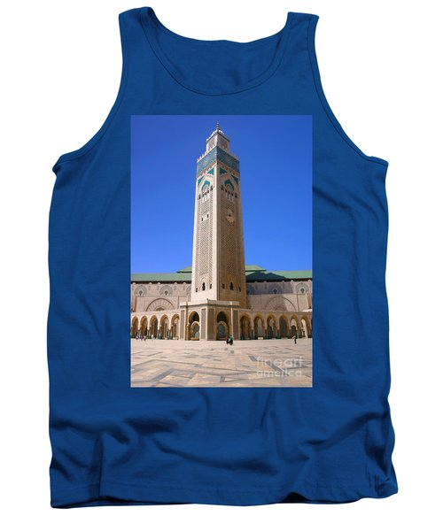 Tank Top featuring the photograph The Hassan II Mosque Grand Mosque With The Worlds Tallest 210m Minaret Sour Jdid Casablanca Morocco by Ralph A  Ledergerber-Photography