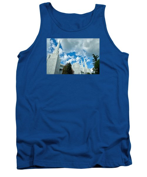 Tank Top featuring the photograph Portland Oregon Lds Temple by Nick  Boren