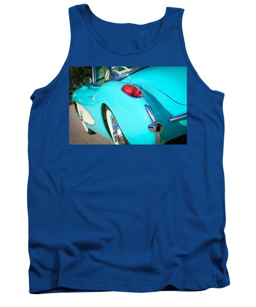 Tank Top featuring the photograph 1957 Chevrolet Corvette Taillight by Jill Reger