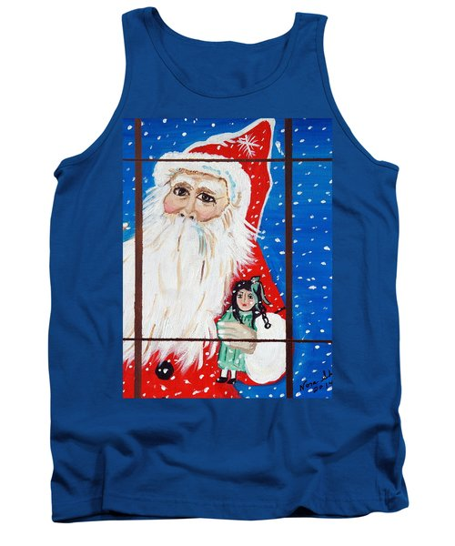 Tank Top featuring the painting Christmas Card by Nora Shepley