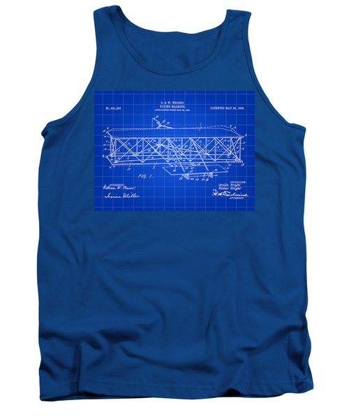 Flying Machine Patent 1903 - Blue Tank Top