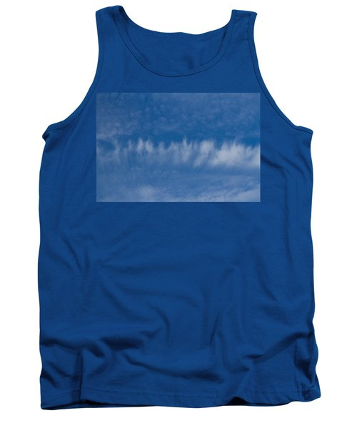 Tank Top featuring the photograph A Batch Of Interesting Clouds In A Blue Sky by Eti Reid