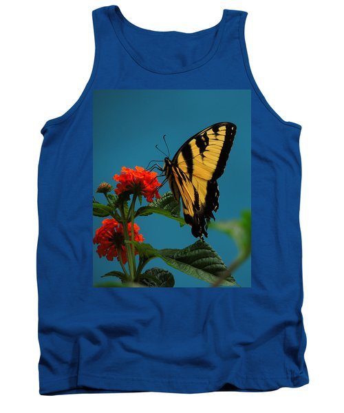 Tank Top featuring the photograph A Butterfly by Raymond Salani III