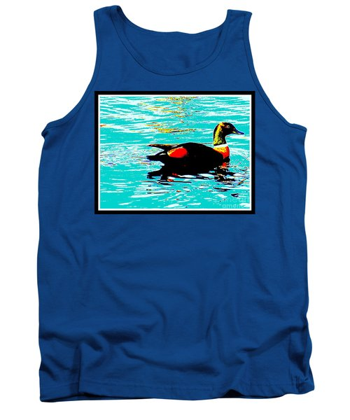 Tank Top featuring the photograph A Duck Is A Duck In A Pond by Roberto Gagliardi