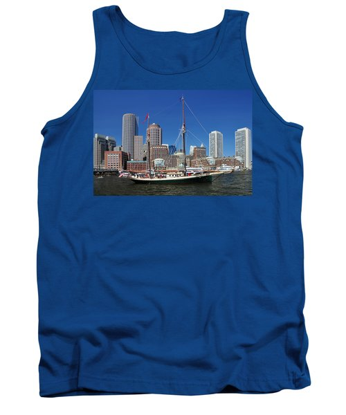 A Ship In Boston Harbor Tank Top