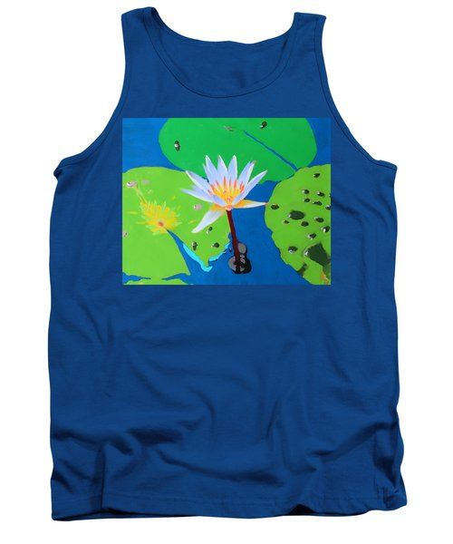 A Water Lily In Its Pad Tank Top