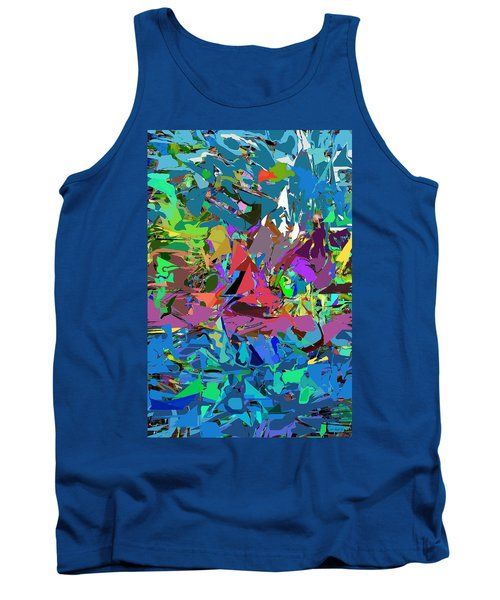 Tank Top featuring the digital art Abstract 011515 by David Lane