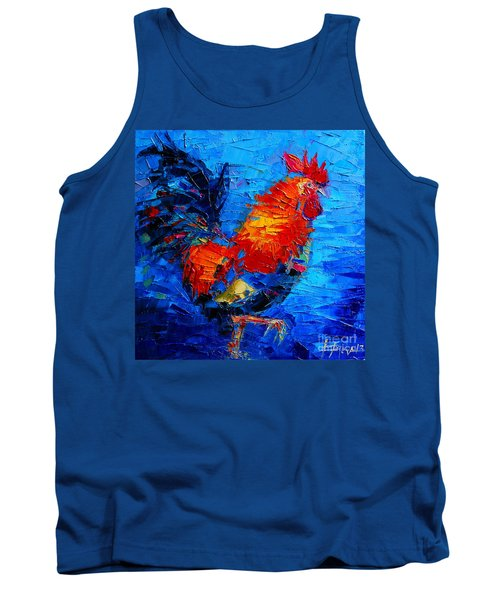Abstract Colorful Gallic Rooster Tank Top