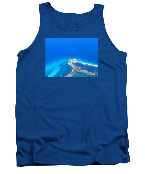 Aerial View Of Cancun Tank Top by Patti Whitten