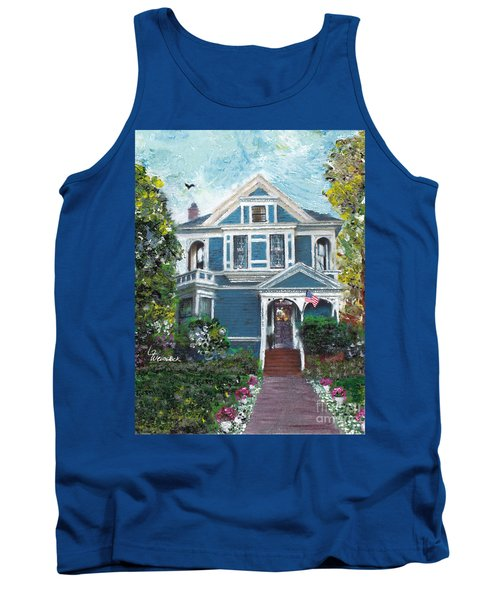 Tank Top featuring the painting Alameda 1887 - Queen Anne by Linda Weinstock