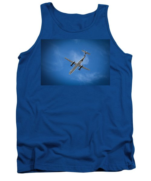 Flight Tank Top featuring the photograph Alaska Airlines Turboprop by Aaron Berg