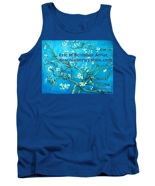 Almond Blossom Branches Tank Top by Eric  Schiabor
