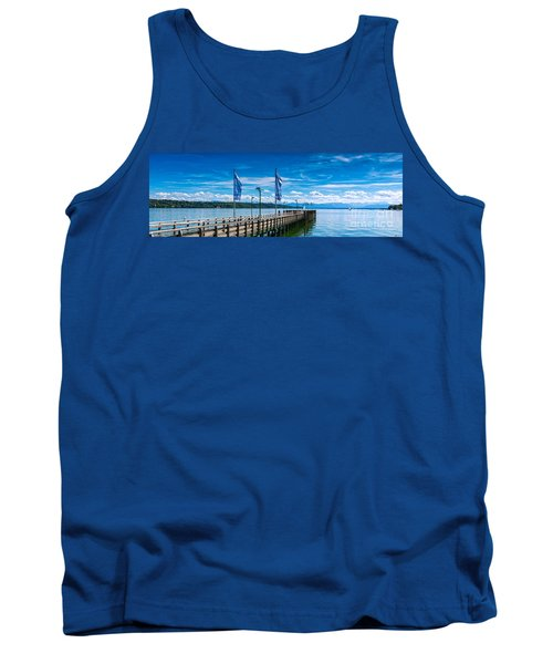 Tank Top featuring the photograph Ammersee - Lake In Bavaria by Juergen Klust