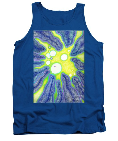 Tank Top featuring the painting Amoeba Adolescence  by Carol Jacobs