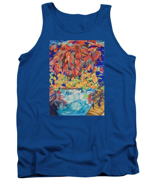 Tank Top featuring the painting An Autumn Floral by Esther Newman-Cohen
