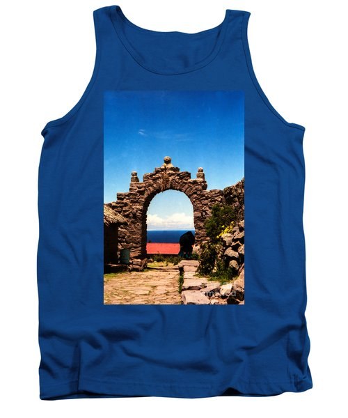 Tank Top featuring the photograph Ancient Portal by Suzanne Luft