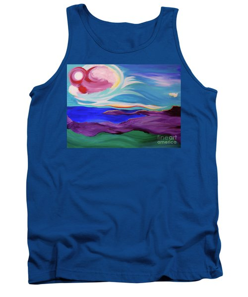 Tank Top featuring the painting Angel Sky by First Star Art