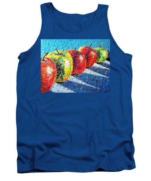 Tank Top featuring the painting Apple A Day by Susan DeLain