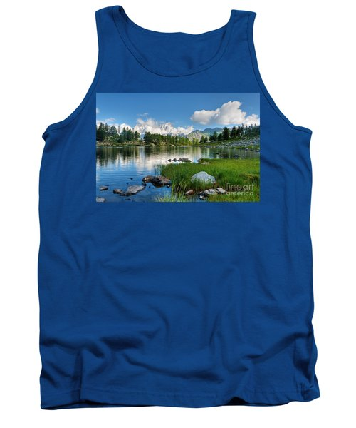 Tank Top featuring the photograph Arpy Lake - Aosta Valley by Antonio Scarpi