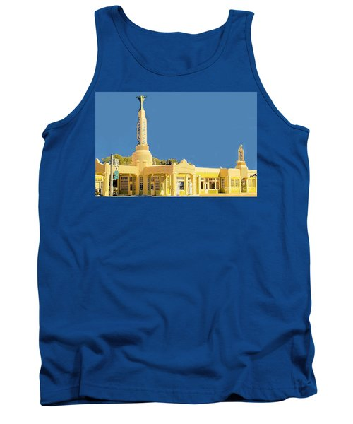 Tank Top featuring the photograph Art Deco Gas Station by Janette Boyd
