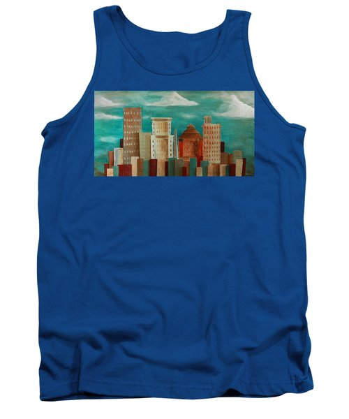 Asheville Skyline Tank Top by Gray  Artus