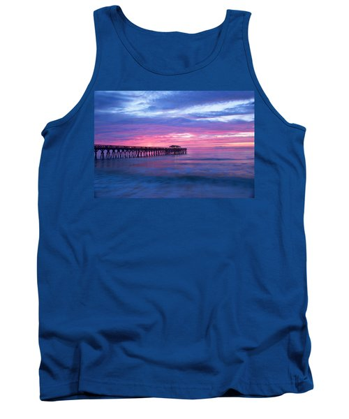 Myrtle Beach State Park Pier Sunrise Tank Top