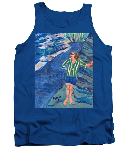 At Wintergreen Park Canajoharie 1957 Tank Top by Betty Pieper
