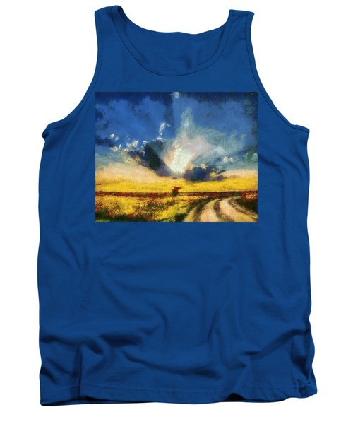 Tank Top featuring the painting Back To Goodbye by Joe Misrasi