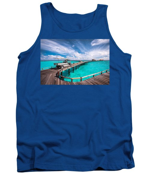 Baggy On The Jetty Over The Blue Lagoon Tank Top