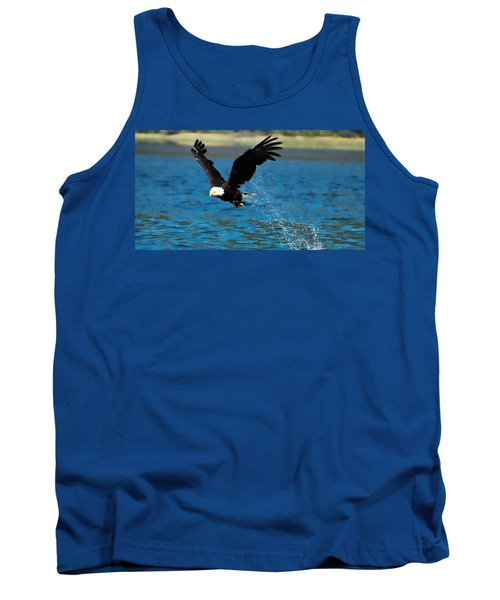 Tank Top featuring the photograph Bald Eagle Fishing by Don Schwartz