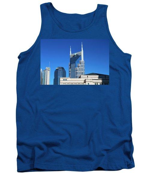 Batman Building And Nashville Skyline Tank Top